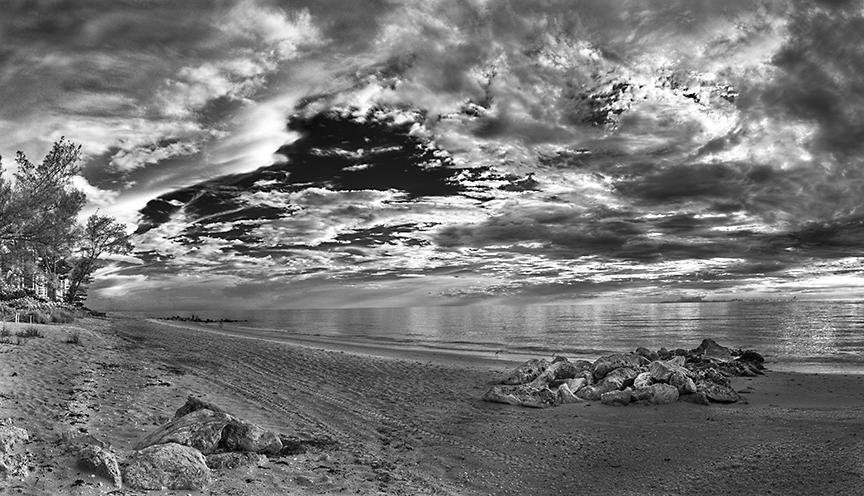 Vanderbilt Beach, B&W, Naples, FL