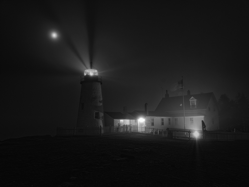 Pemaquid Lighthouse, Lost in the Evening Fog of the Past