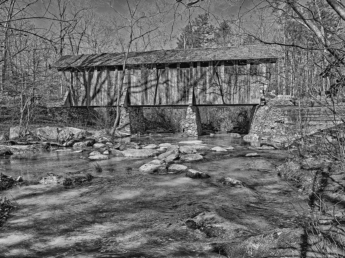 Pisgah National Forest, Covered Bridge, Antique Plate process